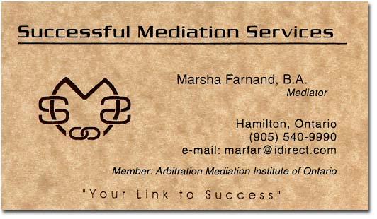 Successful mediation services business card colourmoves